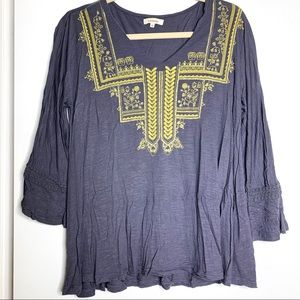 SUNDANCE Sz M embroidered blouse